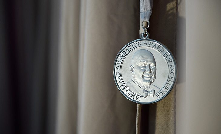 James Beard Awards medallion photo Kent Miller Studios