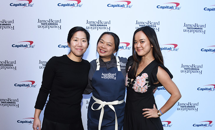 Judy Ni, Ange Branca, and Kiki Aranita at Taste America Philadelphia in 2019 photo by HughE Dillon