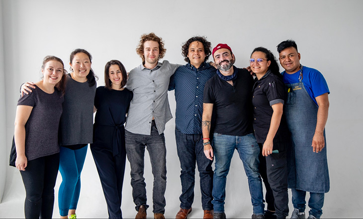 The team at The Migrant Kitchen (photo courtesy of The Migrant Kitchen)