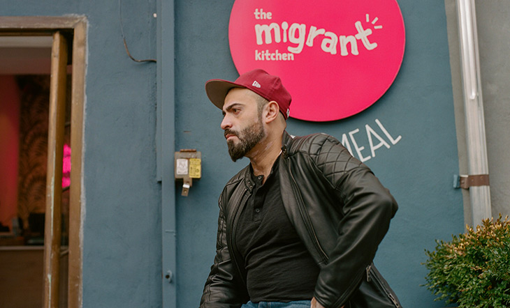Nasser Jaber co-founder of The Migrant Kitchen photo courtesy of The Migrant Kitchen