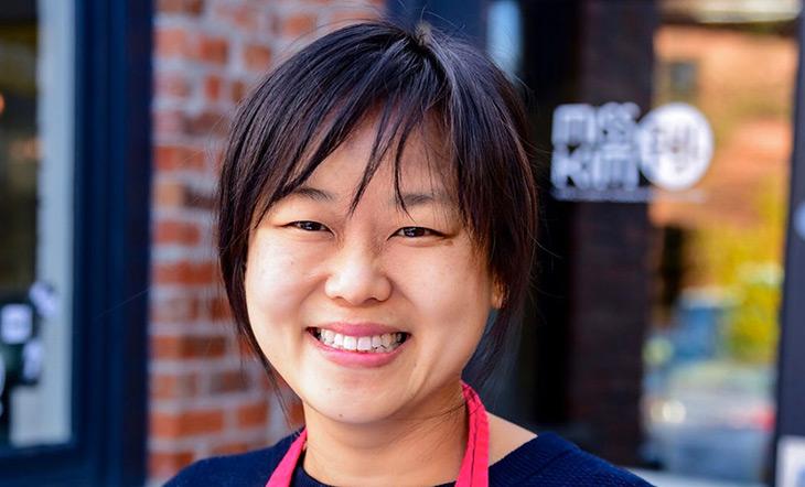 Headshot of Ji Hye Kim, chef/owner of Miss Kim in Ann Arbor photo courtesy of Current Magazine