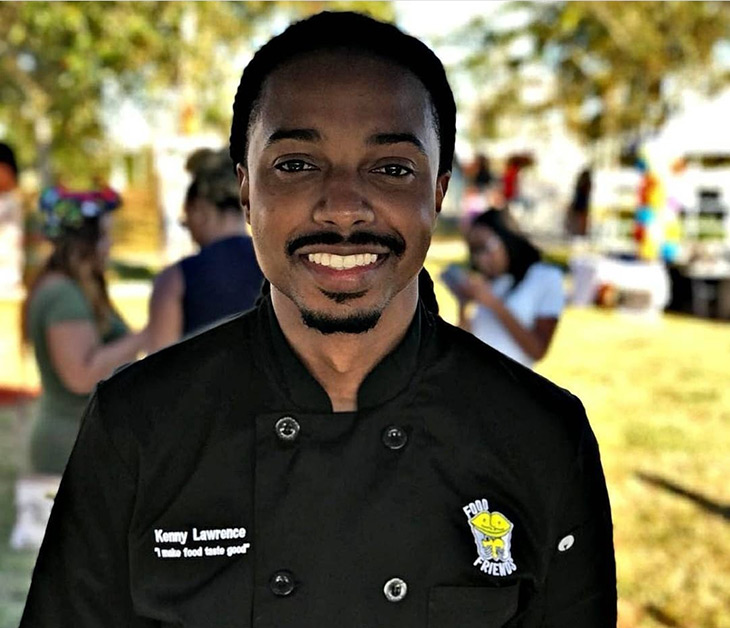 Headshot of Kenrith Lawrence, chef/owner of Food Friends Catering photo courtesy of Food Friends Catering LLC