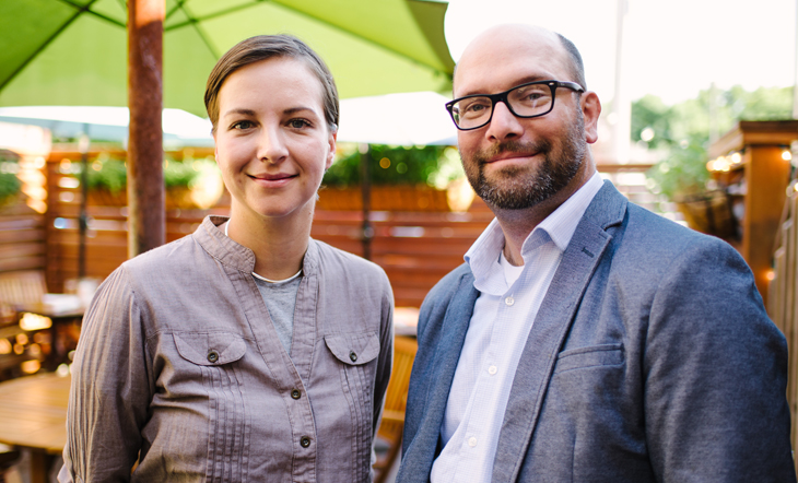 Owners/Sommeliers Johanna and Brad Marr