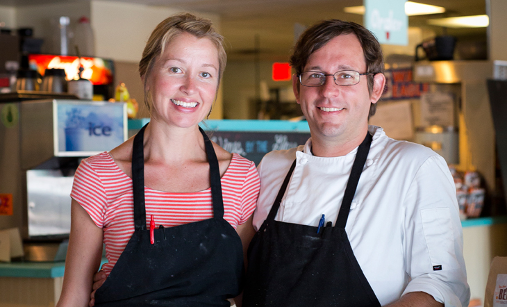Pastry Chef Suzanne Stewart and Chris Stewart