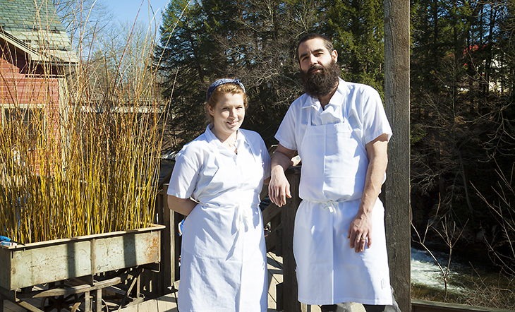 Pastry Chef Jessica Pollard and David Schrier
