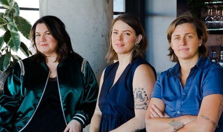 Sharon Bronstein, Shelby Allison, and Caitlin Laman