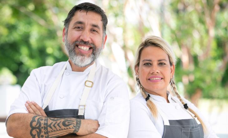 Horacio Rivadero and Veronica Manolizi