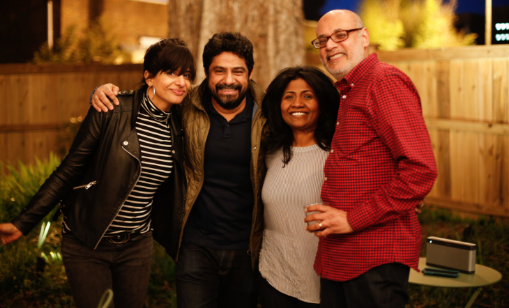 Cheetie Kumar, Meherwan Irani, Asha Gomez, and JBF Award Winner Vishwesh Bhatt (Photo: Molly Milroy)