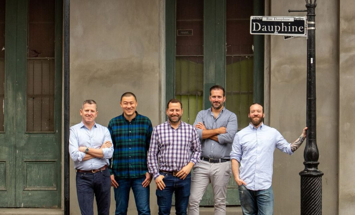 Dauphine Partners L-R: Gavin Coleman, Jeremy Carman, Neal Bodenheimer, Paul Holder, and Kyle Bailey