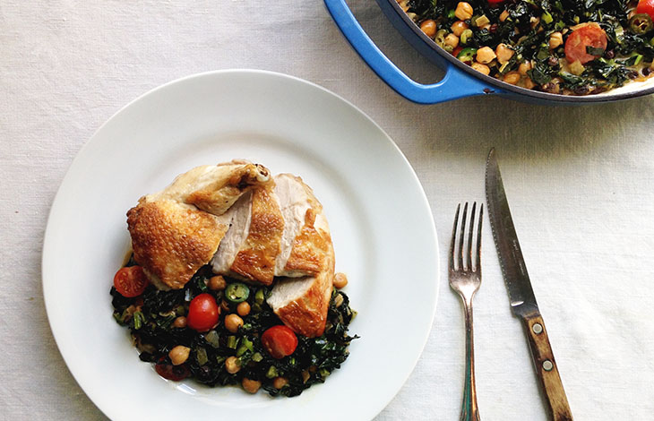 Curried Kale With Pan Seared Chicken Breast Recipe James Beard