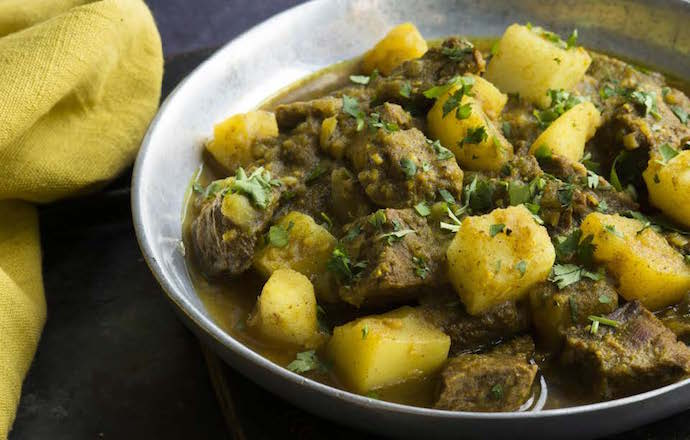 Beef and potato curry recipe james beard foundation photo copyright by jennifer may and evan sung forumfinder Image collections